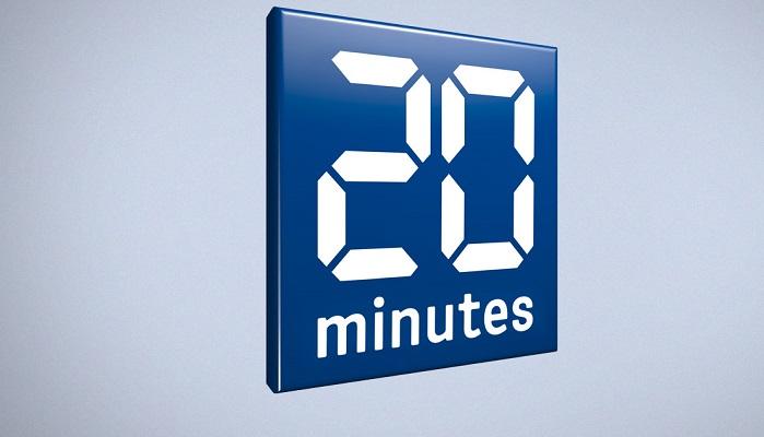 Logo du Journal 20 minutes (Suisse)