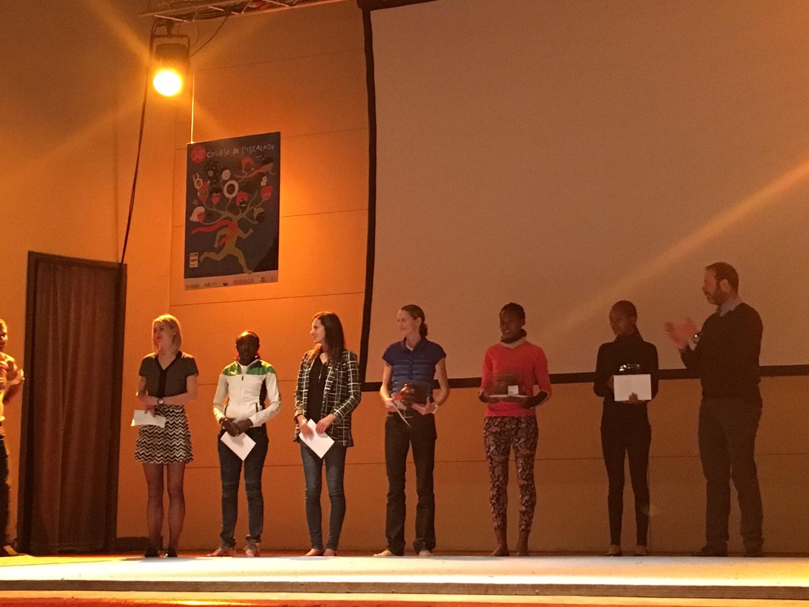 Remise des prix aux 10 finalistes élite féminine