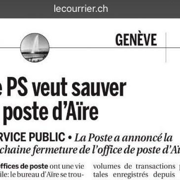 Mobilisation contre la fermeture de la Poste d'Aïre